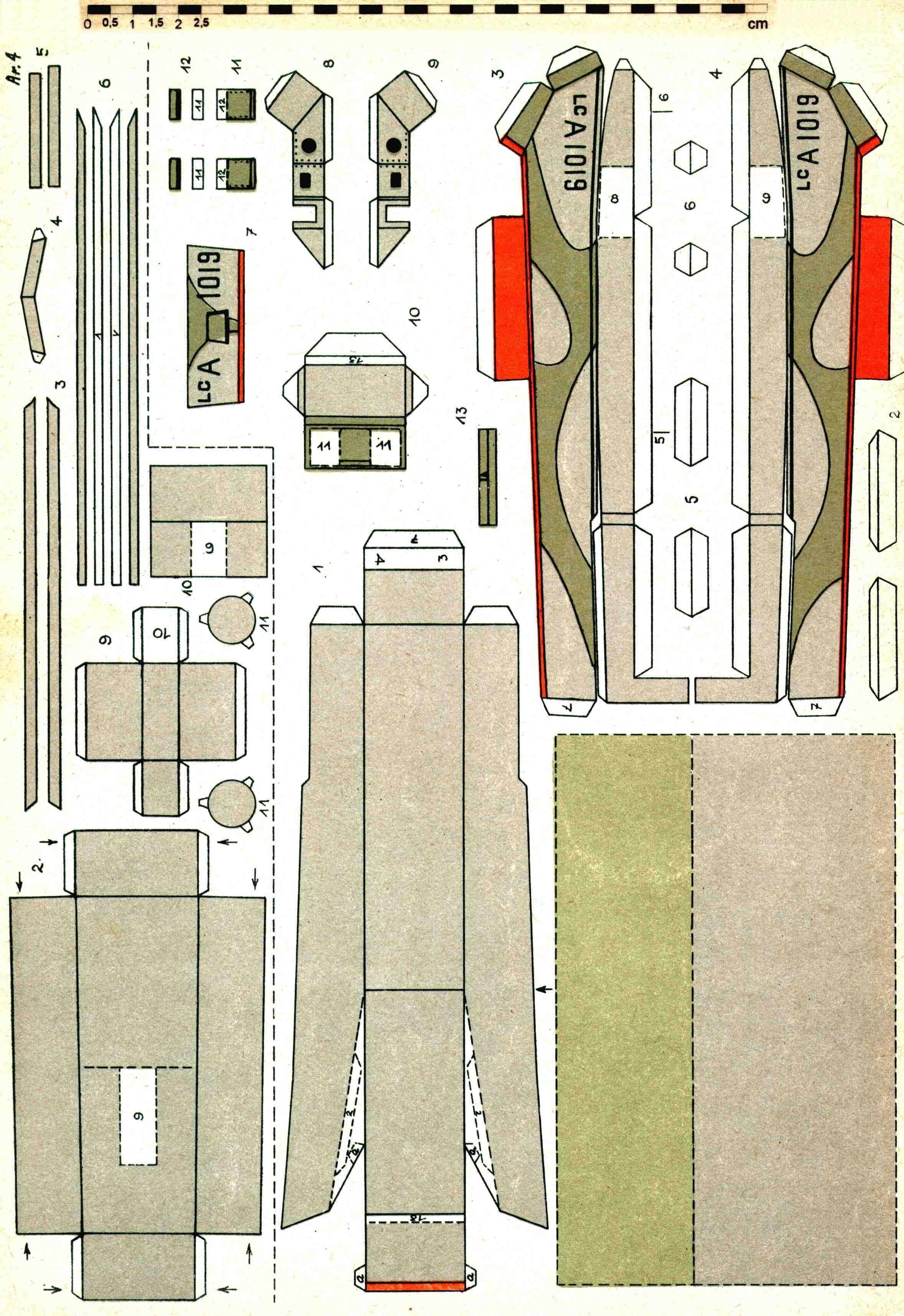 Схемы бумажного моделирования